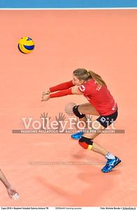 GERMANY training session 2016 European Olympic Qualification - Women | Başkent Voleybol Salonu Ankara, Türkiye, 03.01.2016 FOTO: Michele Benda © 2016 Volleyfoto.it, all rights reserved [id:20160103.MBQ_1165]
