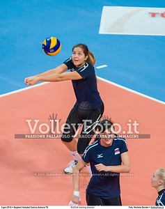 RUSSIA training session 2016 European Olympic Qualification - Women | Başkent Voleybol Salonu Ankara, Türkiye, 03.01.2016 FOTO: Michele Benda © 2016 Volleyfoto.it, all rights reserved [id:20160103._MBK2039]