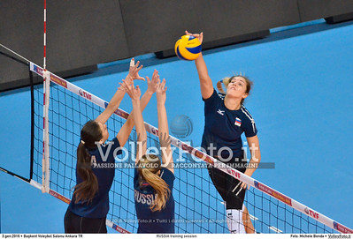 RUSSIA training session 2016 European Olympic Qualification - Women | Başkent Voleybol Salonu Ankara, Türkiye, 03.01.2016 FOTO: Michele Benda © 2016 Volleyfoto.it, all rights reserved [id:20160103.MBQ_1062]
