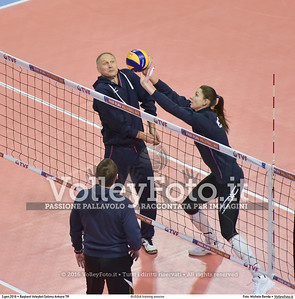 RUSSIA training session 2016 European Olympic Qualification - Women | Başkent Voleybol Salonu Ankara, Türkiye, 03.01.2016 FOTO: Michele Benda © 2016 Volleyfoto.it, all rights reserved [id:20160103.MB2_5483]