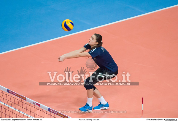 RUSSIA training session 2016 European Olympic Qualification - Women | Başkent Voleybol Salonu Ankara, Türkiye, 03.01.2016 FOTO: Michele Benda © 2016 Volleyfoto.it, all rights reserved [id:20160103._MBK2016]