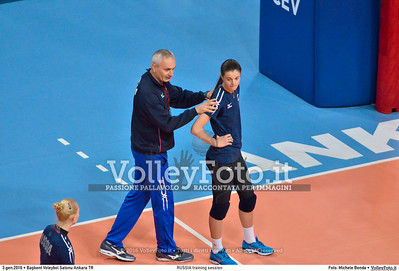 RUSSIA training session 2016 European Olympic Qualification - Women | Başkent Voleybol Salonu Ankara, Türkiye, 03.01.2016 FOTO: Michele Benda © 2016 Volleyfoto.it, all rights reserved [id:20160103.MBQ_1057]