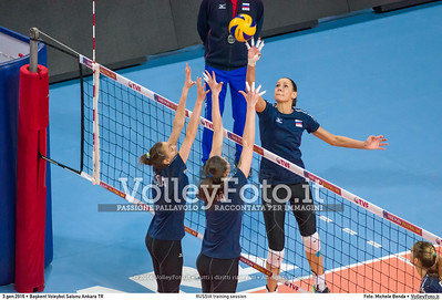 RUSSIA training session 2016 European Olympic Qualification - Women | Başkent Voleybol Salonu Ankara, Türkiye, 03.01.2016 FOTO: Michele Benda © 2016 Volleyfoto.it, all rights reserved [id:20160103.MBQ_1053]