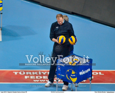 RUSSIA training session 2016 European Olympic Qualification - Women | Başkent Voleybol Salonu Ankara, Türkiye, 03.01.2016 FOTO: Michele Benda © 2016 Volleyfoto.it, all rights reserved [id:20160103.MBQ_1055]