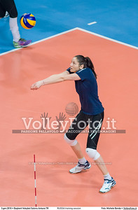 RUSSIA training session 2016 European Olympic Qualification - Women | Başkent Voleybol Salonu Ankara, Türkiye, 03.01.2016 FOTO: Michele Benda © 2016 Volleyfoto.it, all rights reserved [id:20160103._MBK2007]