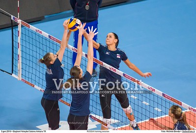 RUSSIA training session 2016 European Olympic Qualification - Women | Başkent Voleybol Salonu Ankara, Türkiye, 03.01.2016 FOTO: Michele Benda © 2016 Volleyfoto.it, all rights reserved [id:20160103.MBQ_1054]