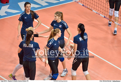RUSSIA training session 2016 European Olympic Qualification - Women | Başkent Voleybol Salonu Ankara, Türkiye, 03.01.2016 FOTO: Michele Benda © 2016 Volleyfoto.it, all rights reserved [id:20160103.MBQ_1067]