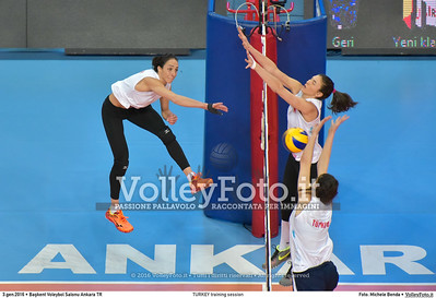 TURKEY training session 2016 European Olympic Qualification - Women | Başkent Voleybol Salonu Ankara, Türkiye, 03.01.2016 FOTO: Michele Benda © 2016 Volleyfoto.it, all rights reserved [id:20160103.MB2_5624]