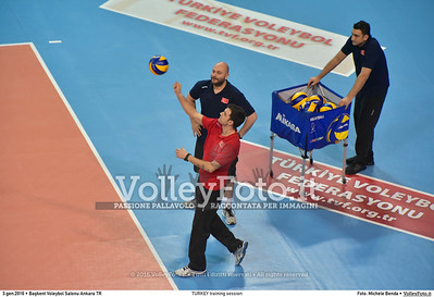 TURKEY training session 2016 European Olympic Qualification - Women | Başkent Voleybol Salonu Ankara, Türkiye, 03.01.2016 FOTO: Michele Benda © 2016 Volleyfoto.it, all rights reserved [id:20160103.MB2_5631]