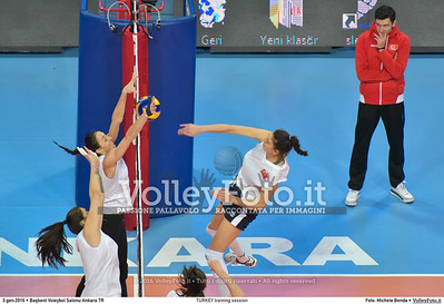 TURKEY training session 2016 European Olympic Qualification - Women | Başkent Voleybol Salonu Ankara, Türkiye, 03.01.2016 FOTO: Michele Benda © 2016 Volleyfoto.it, all rights reserved [id:20160103.MB2_5627]