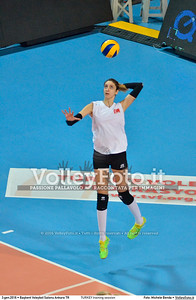 TURKEY training session 2016 European Olympic Qualification - Women | Başkent Voleybol Salonu Ankara, Türkiye, 03.01.2016 FOTO: Michele Benda © 2016 Volleyfoto.it, all rights reserved [id:20160103.MBQ_1261]