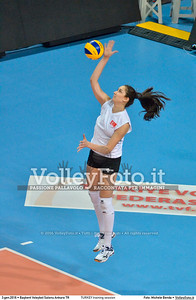TURKEY training session 2016 European Olympic Qualification - Women | Başkent Voleybol Salonu Ankara, Türkiye, 03.01.2016 FOTO: Michele Benda © 2016 Volleyfoto.it, all rights reserved [id:20160103.MBQ_1263]
