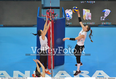 TURKEY training session 2016 European Olympic Qualification - Women | Başkent Voleybol Salonu Ankara, Türkiye, 03.01.2016 FOTO: Michele Benda © 2016 Volleyfoto.it, all rights reserved [id:20160103.MB2_5613]