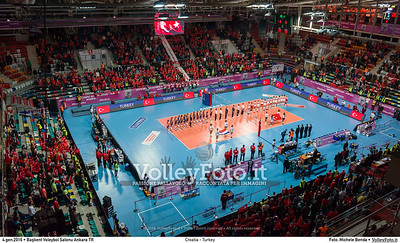 Croatia - Turkey POOL A - 2016 European Olympic Qualification - Women | Başkent Voleybol Salonu Ankara, Türkiye, 04.01.2016 FOTO: Michele Benda © 2016 Volleyfoto.it, all rights reserved [id:20160104._MBK2071]