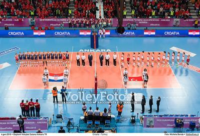 Croatia - Turkey POOL A - 2016 European Olympic Qualification - Women | Başkent Voleybol Salonu Ankara, Türkiye, 04.01.2016 FOTO: Michele Benda © 2016 Volleyfoto.it, all rights reserved [id:20160104._MBK2059]