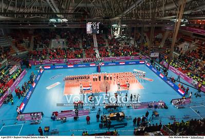 Croatia - Turkey POOL A - 2016 European Olympic Qualification - Women | Başkent Voleybol Salonu Ankara, Türkiye, 04.01.2016 FOTO: Michele Benda © 2016 Volleyfoto.it, all rights reserved [id:20160104._MBK2066]
