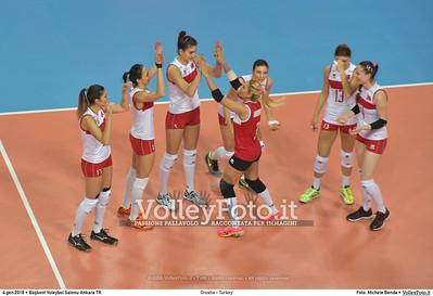 Croatia - Turkey POOL A - 2016 European Olympic Qualification - Women | Başkent Voleybol Salonu Ankara, Türkiye, 04.01.2016 FOTO: Michele Benda © 2016 Volleyfoto.it, all rights reserved [id:20160104.MB2_7147]