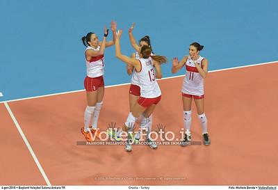 Croatia - Turkey POOL A - 2016 European Olympic Qualification - Women | Başkent Voleybol Salonu Ankara, Türkiye, 04.01.2016 FOTO: Michele Benda © 2016 Volleyfoto.it, all rights reserved [id:20160104.MB2_7144]