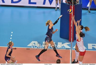 Croatia - Turkey POOL A - 2016 European Olympic Qualification - Women | Başkent Voleybol Salonu Ankara, Türkiye, 04.01.2016 FOTO: Michele Benda © 2016 Volleyfoto.it, all rights reserved [id:20160104.MB2_7158]
