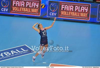 Croatia - Turkey POOL A - 2016 European Olympic Qualification - Women | Başkent Voleybol Salonu Ankara, Türkiye, 04.01.2016 FOTO: Michele Benda © 2016 Volleyfoto.it, all rights reserved [id:20160104.MB2_7149]