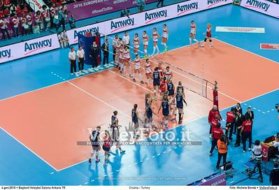 Croatia - Turkey POOL A - 2016 European Olympic Qualification - Women | Başkent Voleybol Salonu Ankara, Türkiye, 04.01.2016 FOTO: Michele Benda © 2016 Volleyfoto.it, all rights reserved [id:20160104._MBK2075]