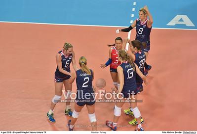 Croatia - Turkey POOL A - 2016 European Olympic Qualification - Women | Başkent Voleybol Salonu Ankara, Türkiye, 04.01.2016 FOTO: Michele Benda © 2016 Volleyfoto.it, all rights reserved [id:20160104.MB2_7166]
