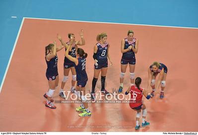 Croatia - Turkey POOL A - 2016 European Olympic Qualification - Women | Başkent Voleybol Salonu Ankara, Türkiye, 04.01.2016 FOTO: Michele Benda © 2016 Volleyfoto.it, all rights reserved [id:20160104.MB2_7137]