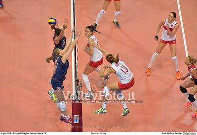 Croatia - Turkey POOL A - 2016 European Olympic Qualification - Women | Başkent Voleybol Salonu Ankara, Türkiye, 04.01.2016 FOTO: Michele Benda © 2016 Volleyfoto.it, all rights reserved [id:20160104.MB2_7162]