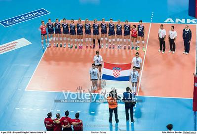 Croatia - Turkey POOL A - 2016 European Olympic Qualification - Women | Başkent Voleybol Salonu Ankara, Türkiye, 04.01.2016 FOTO: Michele Benda © 2016 Volleyfoto.it, all rights reserved [id:20160104._MBK2062]