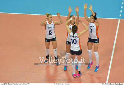 The Netherlands - Germany POOL A - 2016 European Olympic Qualification - Women | Başkent Voleybol Salonu Ankara, Türkiye, 04.01.2016 FOTO: Michele Benda © 2016 Volleyfoto.it, all rights reserved [id:20160104.MB2_6315]