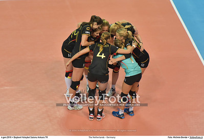 The Netherlands - Germany POOL A - 2016 European Olympic Qualification - Women | Başkent Voleybol Salonu Ankara, Türkiye, 04.01.2016 FOTO: Michele Benda © 2016 Volleyfoto.it, all rights reserved [id:20160104.MB2_6327]