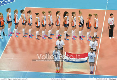 The Netherlands - Germany POOL A - 2016 European Olympic Qualification - Women | Başkent Voleybol Salonu Ankara, Türkiye, 04.01.2016 FOTO: Michele Benda © 2016 Volleyfoto.it, all rights reserved [id:20160104.MB2_6300]