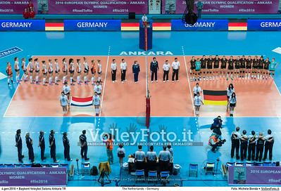 The Netherlands - Germany POOL A - 2016 European Olympic Qualification - Women | Başkent Voleybol Salonu Ankara, Türkiye, 04.01.2016 FOTO: Michele Benda © 2016 Volleyfoto.it, all rights reserved [id:20160104._MBK2050]