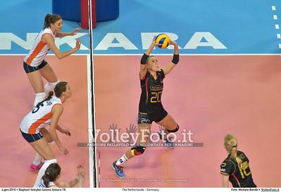 The Netherlands - Germany POOL A - 2016 European Olympic Qualification - Women | Başkent Voleybol Salonu Ankara, Türkiye, 04.01.2016 FOTO: Michele Benda © 2016 Volleyfoto.it, all rights reserved [id:20160104.MB2_6337]