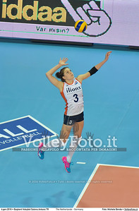 The Netherlands - Germany POOL A - 2016 European Olympic Qualification - Women | Başkent Voleybol Salonu Ankara, Türkiye, 04.01.2016 FOTO: Michele Benda © 2016 Volleyfoto.it, all rights reserved [id:20160104.MB2_6335]