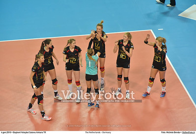 The Netherlands - Germany POOL A - 2016 European Olympic Qualification - Women | Başkent Voleybol Salonu Ankara, Türkiye, 04.01.2016 FOTO: Michele Benda © 2016 Volleyfoto.it, all rights reserved [id:20160104.MB2_6323]