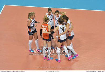 The Netherlands - Germany POOL A - 2016 European Olympic Qualification - Women | Başkent Voleybol Salonu Ankara, Türkiye, 04.01.2016 FOTO: Michele Benda © 2016 Volleyfoto.it, all rights reserved [id:20160104.MB2_6318]