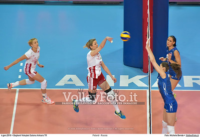 Poland - Russia POOL B - 2016 European Olympic Qualification - Women | Başkent Voleybol Salonu Ankara, Türkiye, 04.01.2016 FOTO: Michele Benda © 2016 Volleyfoto.it, all rights reserved [id:20160104.MB2_6852]