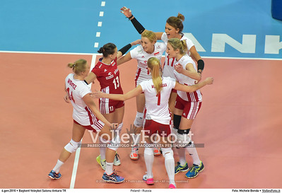 Poland - Russia POOL B - 2016 European Olympic Qualification - Women   Başkent Voleybol Salonu Ankara, Türkiye, 04.01.2016 FOTO: Michele Benda © 2016 Volleyfoto.it, all rights reserved [id:20160104.MB2_6842]