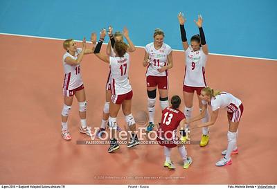 Poland - Russia POOL B - 2016 European Olympic Qualification - Women   Başkent Voleybol Salonu Ankara, Türkiye, 04.01.2016 FOTO: Michele Benda © 2016 Volleyfoto.it, all rights reserved [id:20160104.MB2_6820]