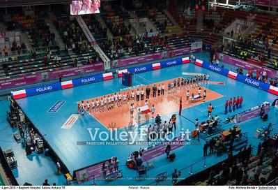 Poland - Russia POOL B - 2016 European Olympic Qualification - Women | Başkent Voleybol Salonu Ankara, Türkiye, 04.01.2016 FOTO: Michele Benda © 2016 Volleyfoto.it, all rights reserved [id:20160104._MBK2052]