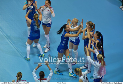 Poland - Russia POOL B - 2016 European Olympic Qualification - Women   Başkent Voleybol Salonu Ankara, Türkiye, 04.01.2016 FOTO: Michele Benda © 2016 Volleyfoto.it, all rights reserved [id:20160104.MB2_6825]