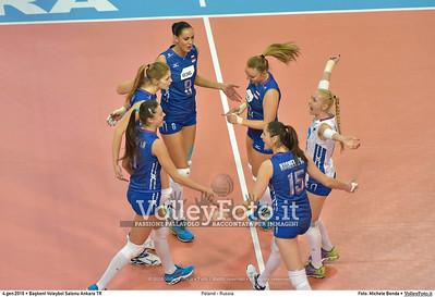 Poland - Russia POOL B - 2016 European Olympic Qualification - Women | Başkent Voleybol Salonu Ankara, Türkiye, 04.01.2016 FOTO: Michele Benda © 2016 Volleyfoto.it, all rights reserved [id:20160104.MB2_6848]
