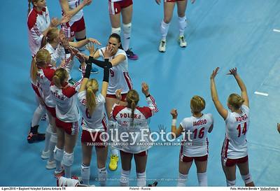 Poland - Russia POOL B - 2016 European Olympic Qualification - Women | Başkent Voleybol Salonu Ankara, Türkiye, 04.01.2016 FOTO: Michele Benda © 2016 Volleyfoto.it, all rights reserved [id:20160104.MB2_6814]