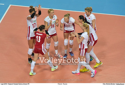 Poland - Russia POOL B - 2016 European Olympic Qualification - Women | Başkent Voleybol Salonu Ankara, Türkiye, 04.01.2016 FOTO: Michele Benda © 2016 Volleyfoto.it, all rights reserved [id:20160104.MB2_6822]