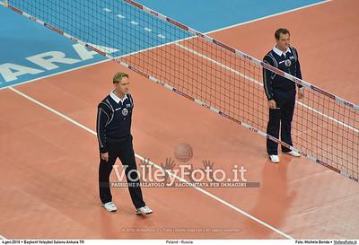 Poland - Russia POOL B - 2016 European Olympic Qualification - Women | Başkent Voleybol Salonu Ankara, Türkiye, 04.01.2016 FOTO: Michele Benda © 2016 Volleyfoto.it, all rights reserved [id:20160104.MB2_6812]
