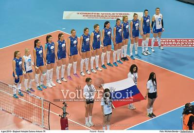 Poland - Russia POOL B - 2016 European Olympic Qualification - Women | Başkent Voleybol Salonu Ankara, Türkiye, 04.01.2016 FOTO: Michele Benda © 2016 Volleyfoto.it, all rights reserved [id:20160104.MB2_6804]