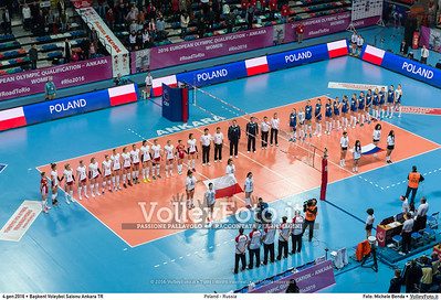 Poland - Russia POOL B - 2016 European Olympic Qualification - Women | Başkent Voleybol Salonu Ankara, Türkiye, 04.01.2016 FOTO: Michele Benda © 2016 Volleyfoto.it, all rights reserved [id:20160104._MBK2054]