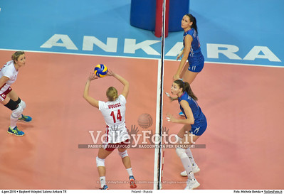 Poland - Russia POOL B - 2016 European Olympic Qualification - Women   Başkent Voleybol Salonu Ankara, Türkiye, 04.01.2016 FOTO: Michele Benda © 2016 Volleyfoto.it, all rights reserved [id:20160104.MB2_6851]