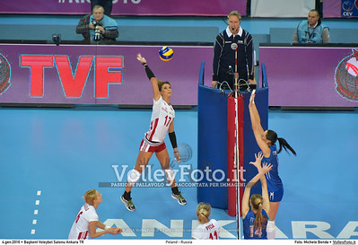 Poland - Russia POOL B - 2016 European Olympic Qualification - Women | Başkent Voleybol Salonu Ankara, Türkiye, 04.01.2016 FOTO: Michele Benda © 2016 Volleyfoto.it, all rights reserved [id:20160104.MB2_6839]